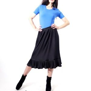 Vintage 70's Ruffle,Pleated, Romantic Skirt